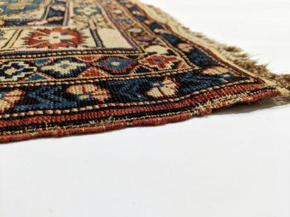 Fine Antique Shirvan 4x6 Blue Ivory Wool Area Rug