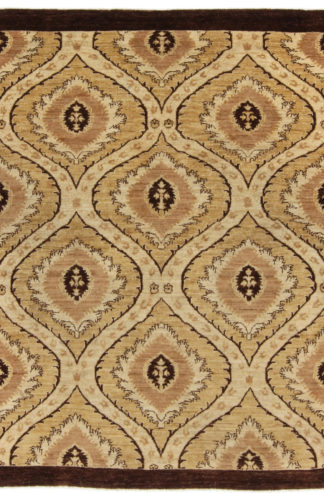 Afghan Ottoman Design 5x8 Brown Wool Area Rug