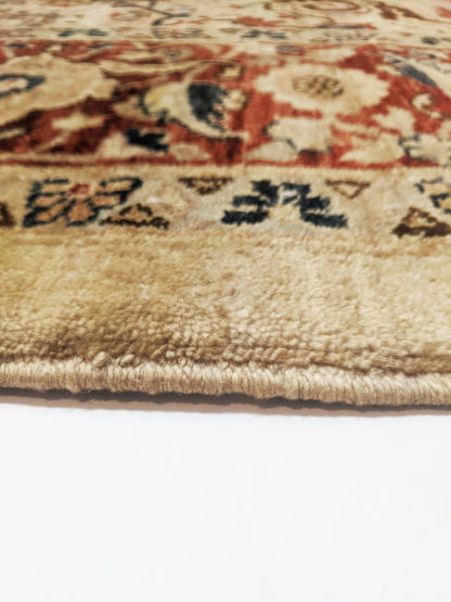 Afghan Heriz Design 9x12 Rust Beige Wool Area Rug