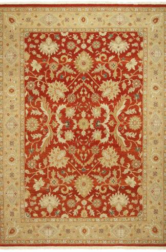 Afghan Flatweave 9x13 Rust Wool Area Rug