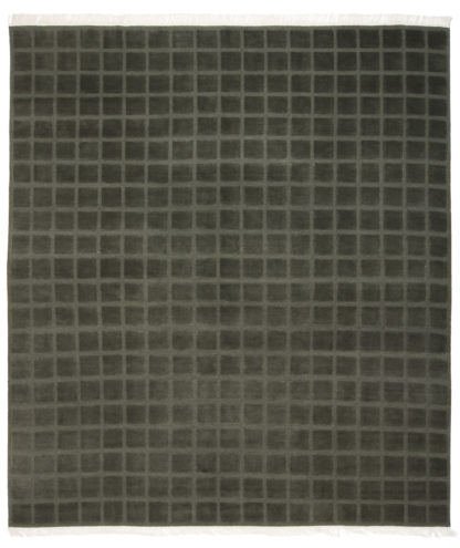 Hand Knotted 8x10 Grey Green Wool Area Rug