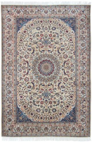 Persian Habibian Nain 6x9 Blue Red Wool Area Rug