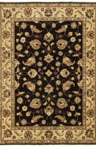 Hand Knotted Chobi 5x7 Brown Wool Area Rug