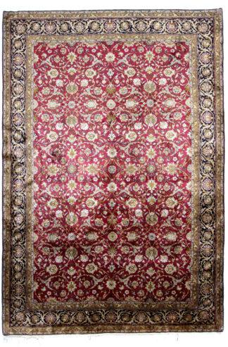 Extra-Fine Silk Persian Qum 7x10 Purple Area Rug