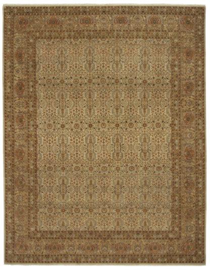 Fine Persian Tabriz 8x10 Beige Wool Area Rug