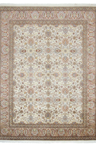 Fine Hand Knotted Tabriz Design 8x10 Wool Area Rug