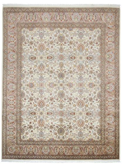 Fine Hand Knotted Tabriz Design 8x10 Wool Area Rug