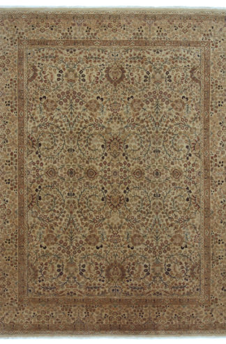 Fine Persian Tabriz 8x10 Brown Wool Area Rug