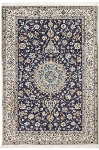 Persian Nain 6x9 Ivory Blue Area Rug