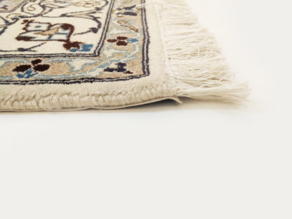Persian Nain 6x9 Ivory Blue Area Rug