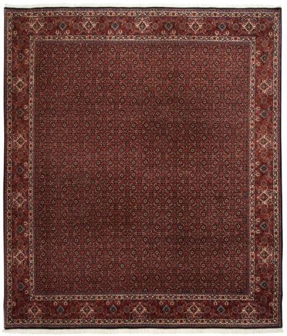Fine Persian Bidjar 8x10 Red Black Wool Area Rug