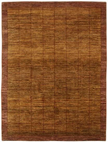 Afghan Gabbeh Design 5×8 Brown Wool Area Rug