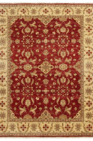 Afghan Chobi 5x8 Red Beige Wool Area Rug