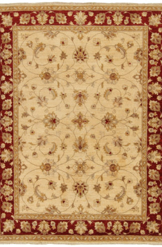 Afghan Chobi 5×7 Red Beige Wool Area Rug