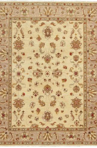 Afghan Chobi 5×7 Gold Beige Wool Area Rug