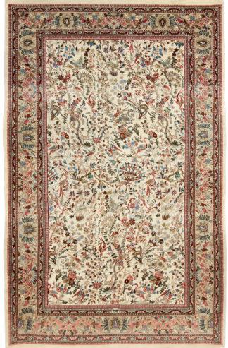 Semi Antique Taba Tabriz 5x8 Wool Silk Area Rug