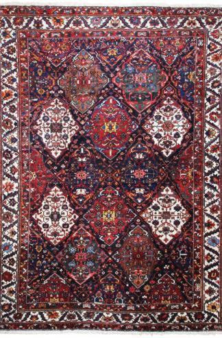Antique Persian Bakhtiari 15x19 Red Blue Area Rug