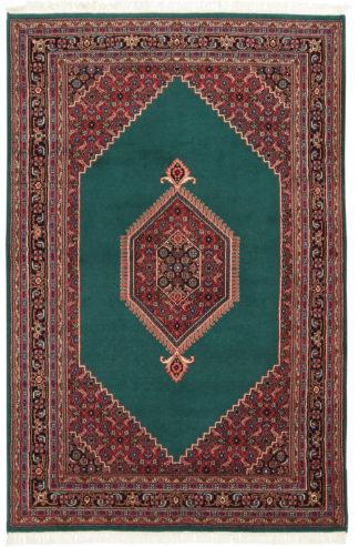 Indo-Persian Bidjar 6x9 Green Wool Area Rug