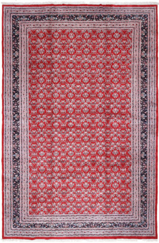 Hand Knotted Indo-Persian 12x17 Red Wool Area Rug