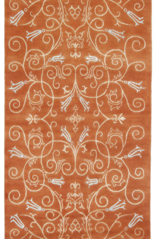 Hand Knotted 4x7 Light Brown Wool Area Rug