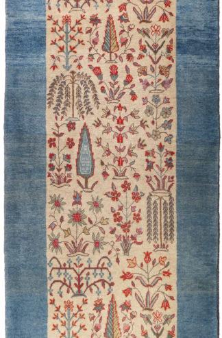 Persian Bakhtiari Gabbeh 3×6 Beige Blue Area Rug