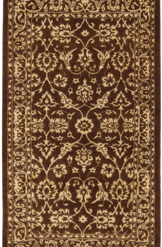 Hand Knotted Transitional 3x5 Brown Wool Area Rug