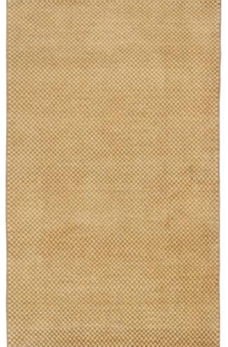 Checker Gabbeh Design 3x5 Beige Wool Area Rug