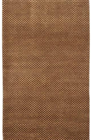 Checker Gabbeh Design 3×5 Brown Wool Area Rug