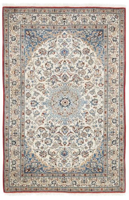 Persian Nain Toudeshk 3x5 Ivory Blue Area Rug