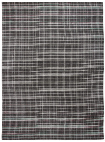 Hand Loomed Wool Contemporary 10x14 Brown Area Rug