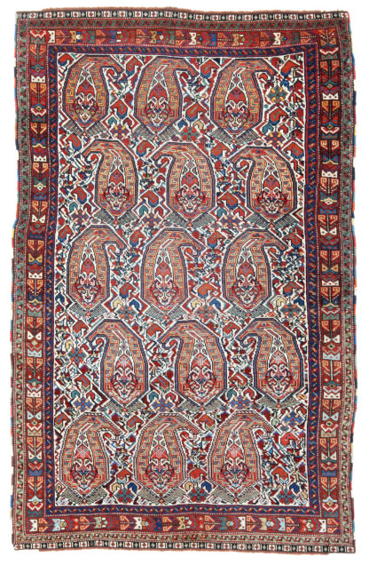 Antique Persian Afshar 3x5 Wool Area Rug