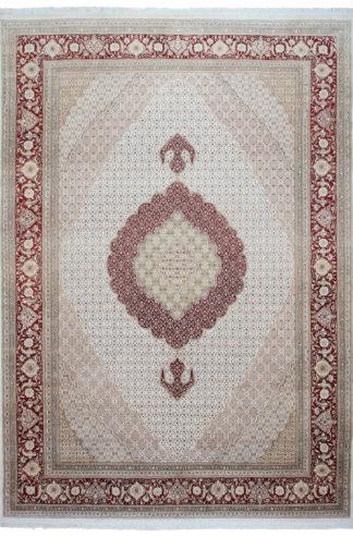 Fine Tabriz Mahi Design 10x14 Rust Beige Area Rug