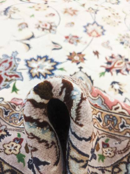 Fine Persian Tabriz 10x14 Rose Ivory Area Rug