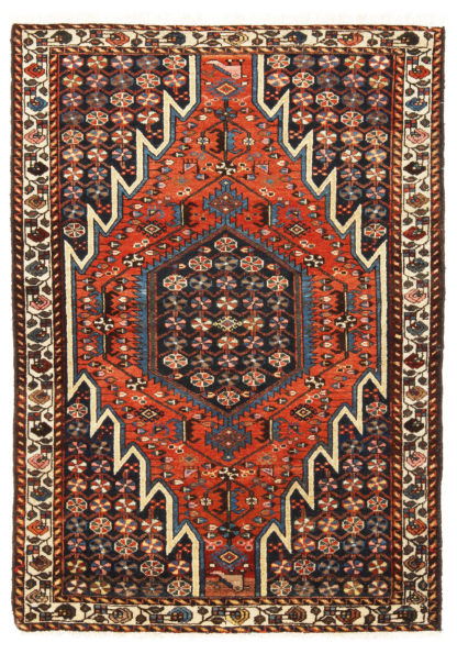 Persian Mazlaghan 4x6 Wool Area Rug