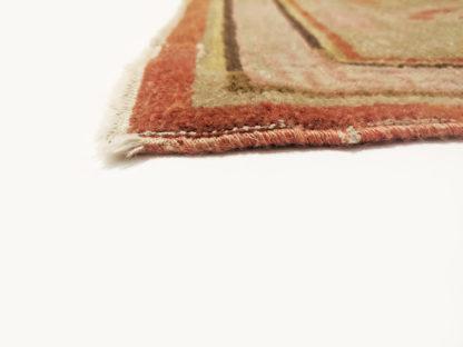Antique Samarkand 6x12 Orange Wool Area Rug