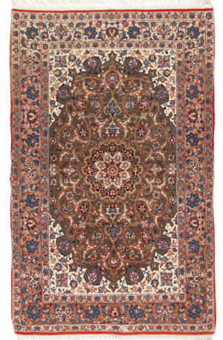 Extra Fine Antique Persian Isfahan 3x5 Area Rug