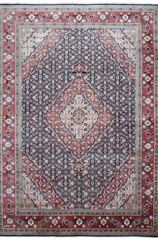 Persian Tabriz 8x11 Rose Blue Wool Area Rug