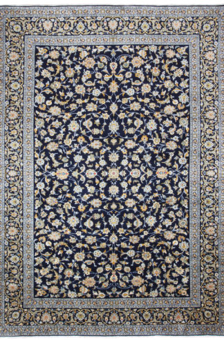 Persian Royal Kashan 9x12 Blue Wool Area Rug