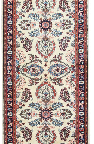 Shirvan Design Runner 3x12 Beige Wool Area Rug