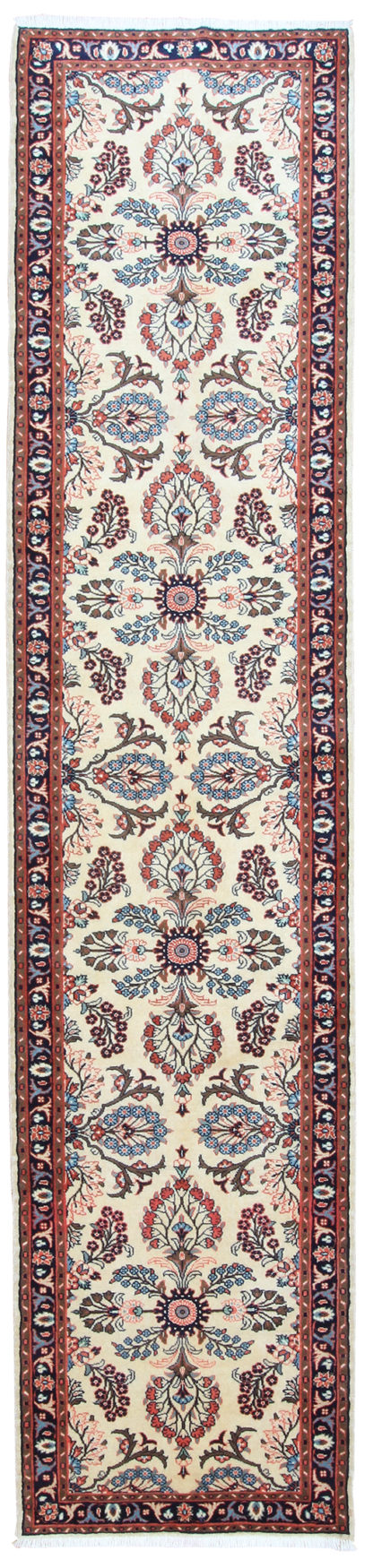 Shirvan Design Runner 3x12 Beige Wool Area Rug