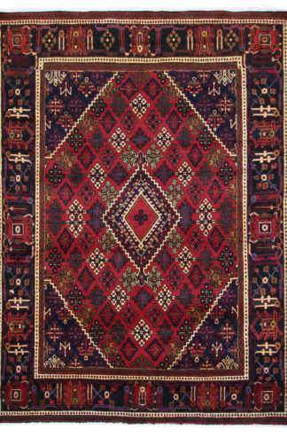 Persian Joshaghan 8x10 Red Wool Area Rug