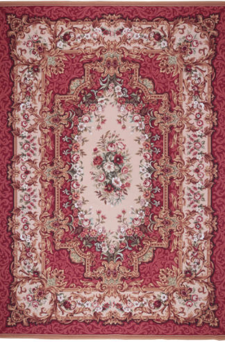 Aubusson Design Needlepoint 10x14 Wool Area Rug