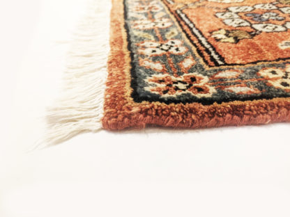 Afghan Heriz Design 9x12 Rust Grey Wool Area Rug