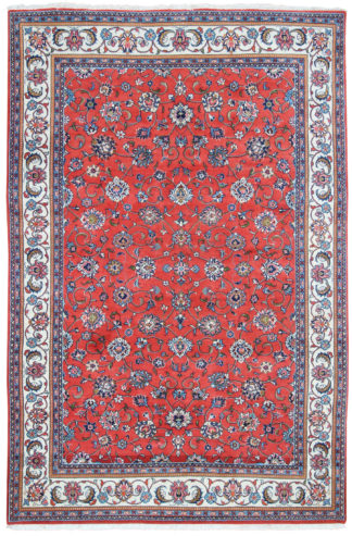 Persian Tabriz 6x9 Red Wool Area Rug