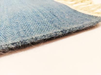 Pictorial Dhurrie 2x4 Blue Wool Area Rug
