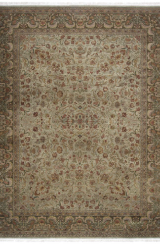 Hand Knotted Jaipur 9x12 Moss Green Wool Area Rug
