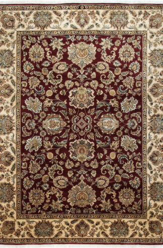 Hand Knotted Jaipur 9x12 Maroon Wool Area Rug