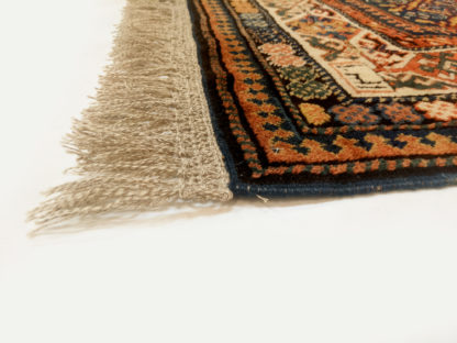 Hand Knotted Wool Shirvan 4x6 Blue Area Rug