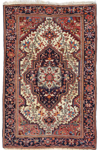 Antique Persian Feraghan 3x5 Wool Area Rug