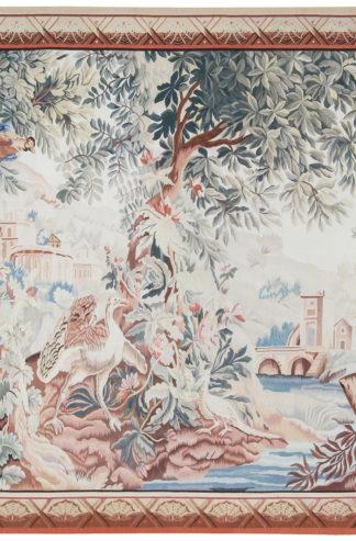 Fine Verdure Copy 7x9 Wool Tapestry